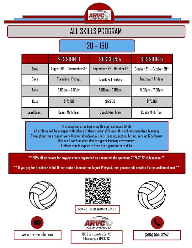 Fall All Skills 12U-16U